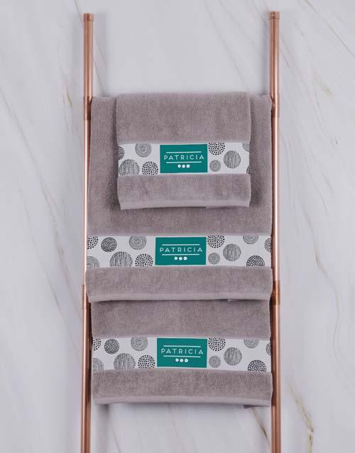 christmas: Personalised Circles Stone Towel Set!