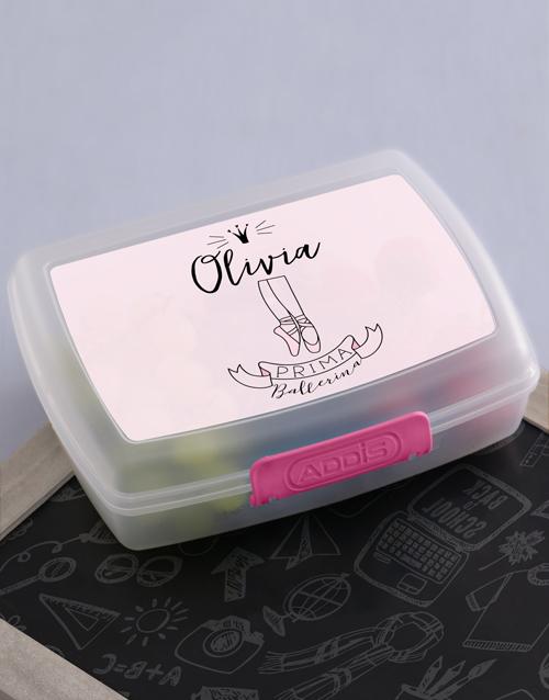personalised: Personalised Ballerina Girls Lunch Box!