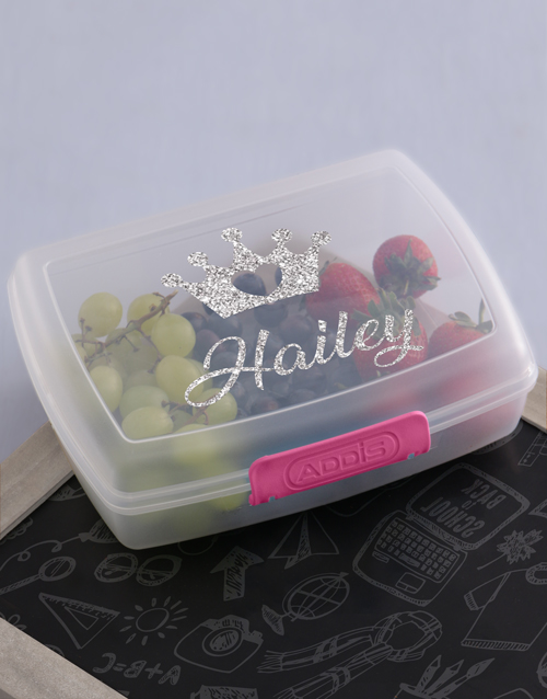 personalised: Personalised Princess Girls Lunch Box!