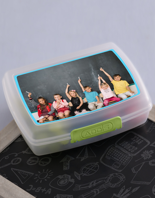 personalised: Personalised Image Upload Kids Lunch Box!