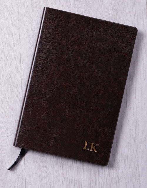 thank-you: Personalised Initials Gilded Notebook!