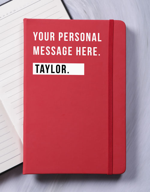 thank-you: Personalised Just For You A5 Notebook!
