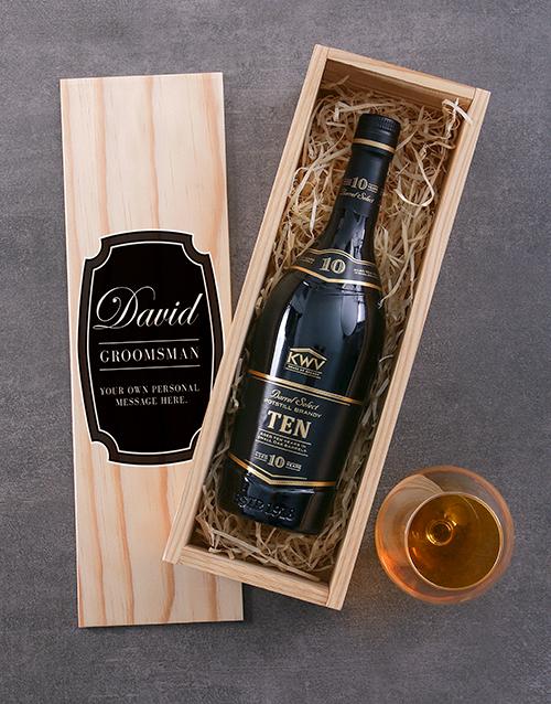 personalised: Personalised KWV Ten Year Brandy Crate!