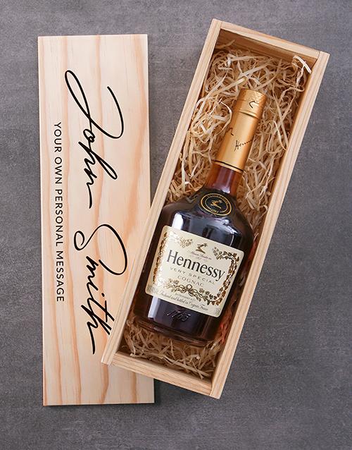 personalised: Personalised Hennessy VS Printed Crate!