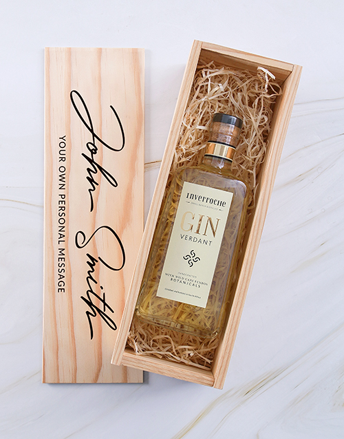 fathers-day: Personalised Inverroche Gin Printed Crate!