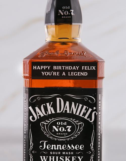fine-alcohol: Personalised Jack Daniels Whiskey!