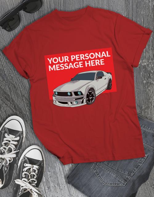clothing: Personalised Racecar T Shirt!