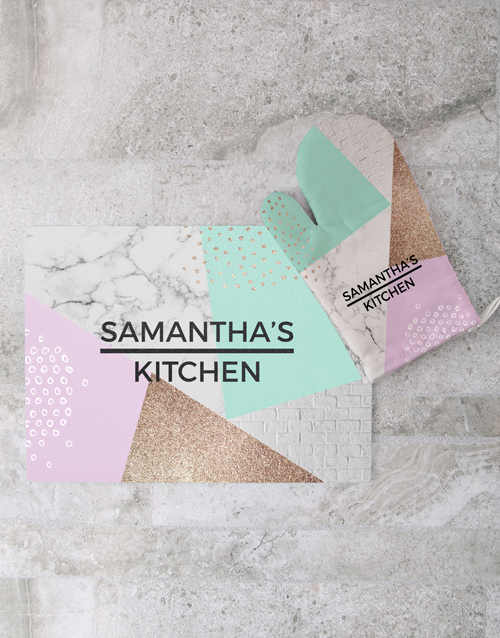 homeware: Personalised Marble Glass Chopping Board!
