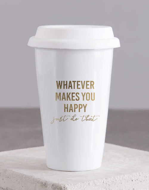 personalised: Personalised Whatever Makes Ceramic Travel Mug!