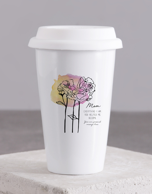 gifts: Personalised Mom Ceramic Travel Mug!