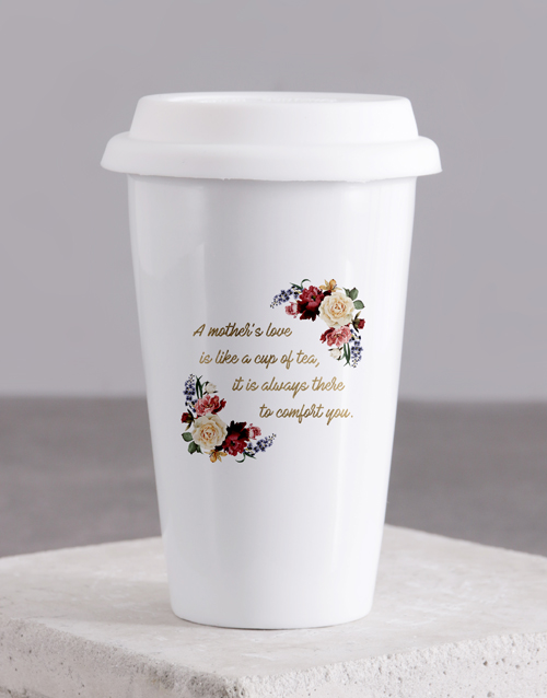 personalised: Personalised Love Of Mother Ceramic Travel Mug!