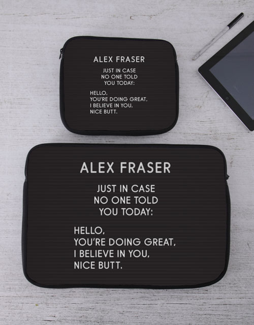 bosses-day: Personalised Just In Case Tablet or Laptop Sleeve!