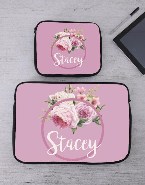 birthday: Personalised Roses Tablet or Laptop Sleeve!