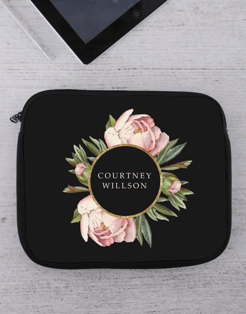 bosses-day: Personalised Peony Tablet or Laptop Sleeve!