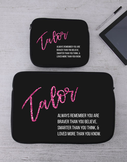 bosses-day: Personalised Remember Tablet or Laptop Sleeve!