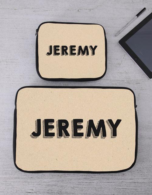 birthday: Personalised Name Tablet or Laptop Sleeve!