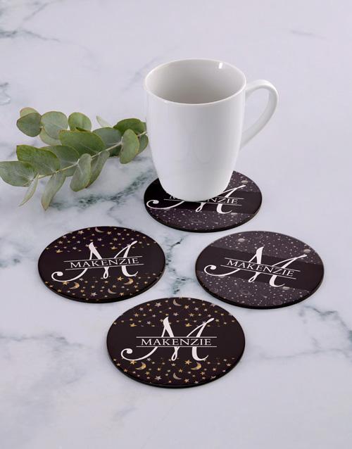 personalised: Personalised Stars Coaster Set!