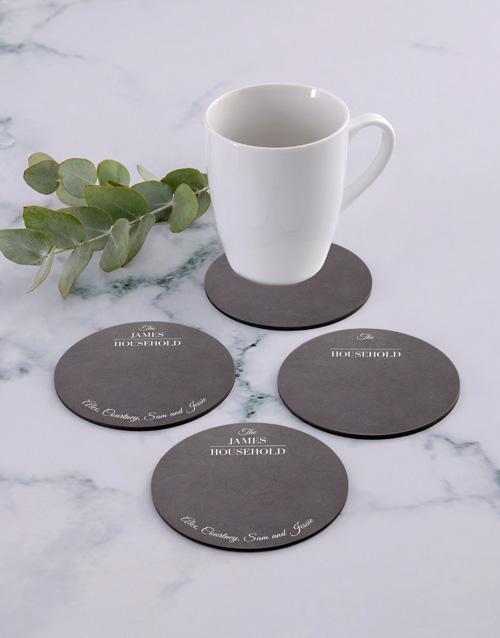 personalised: Personalised Household Coaster Set!