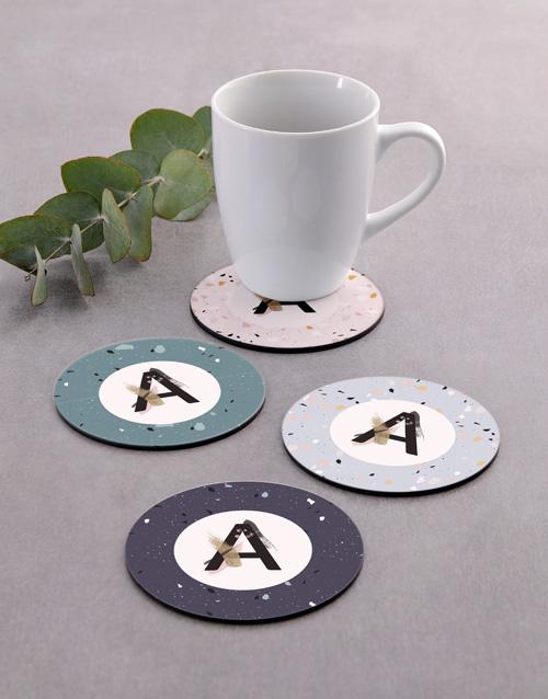 personalised: Personalised Monogram Pattern Coaster Set!