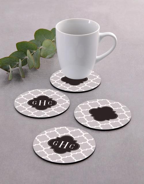 personalised: Personalised Monogram Coaster Set!