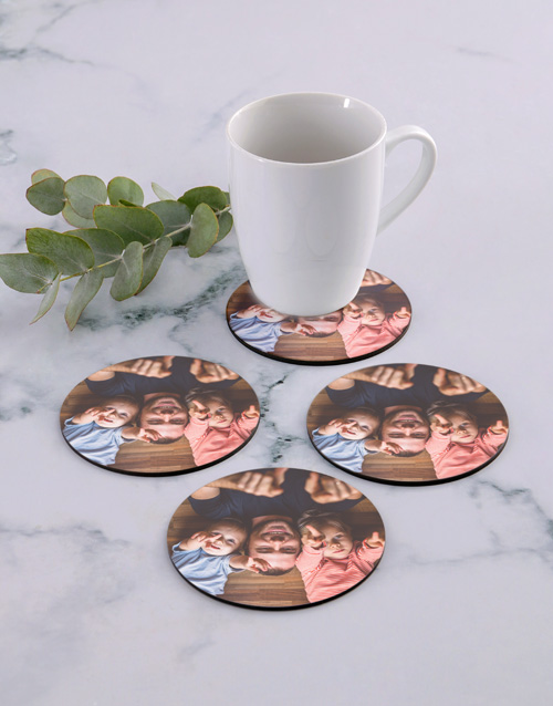 personalised: Personalised Photo Upload Coaster Set!