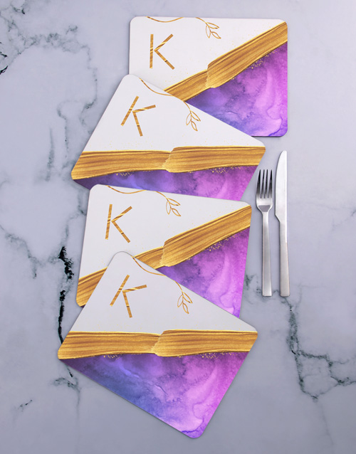 gifts: Personalised Modern Placemat Set!