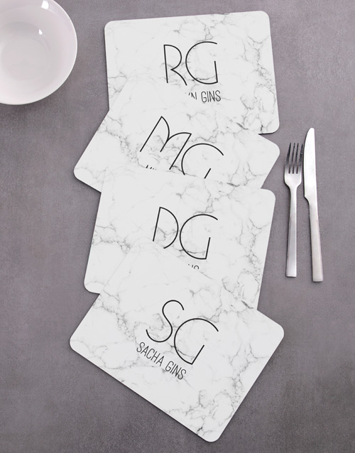 personalised: Personalised Marble Placemat Set!