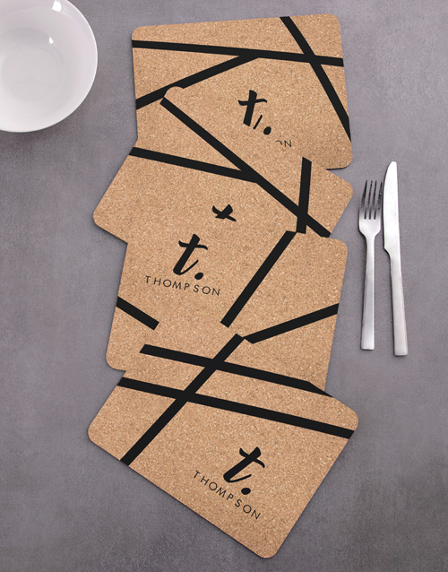personalised: Personalised Patterned Placemat Set !