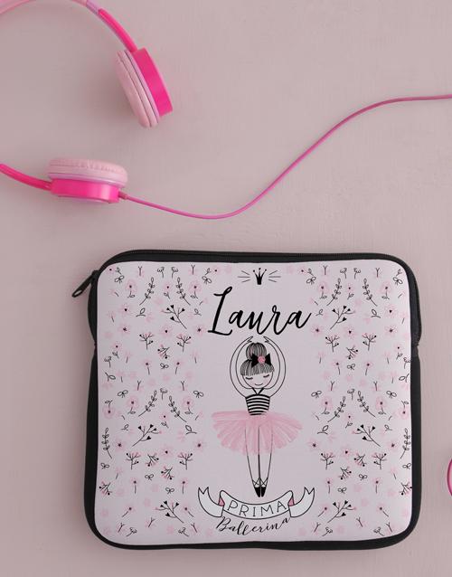 personalised: Personalised Neoprene Ballerina Tablet Cover!