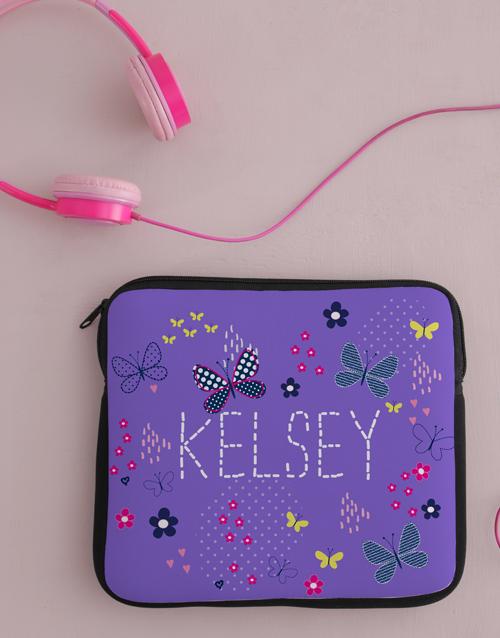 personalised: Personalised Neoprene Butterflies Tablet Cover!