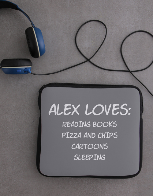 gadgets: Personalised Neoprene Favourites Tablet Cover!