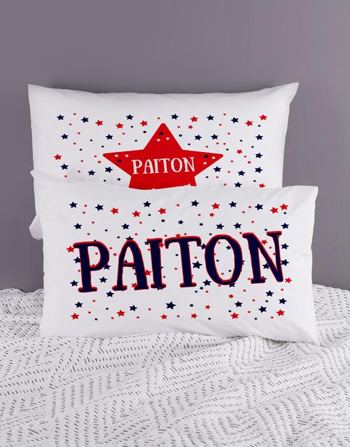 kids: Personalised Stars Pillow Case Set!