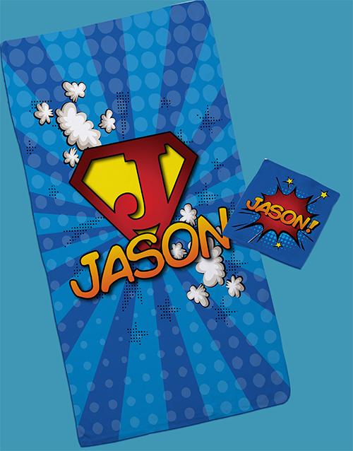 kids: Personalised Superkid Towel Set!
