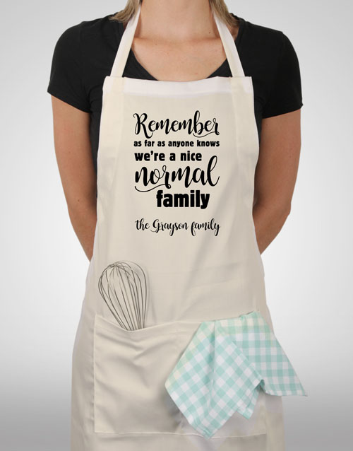 spring-day: Personalised Normal Family Apron!