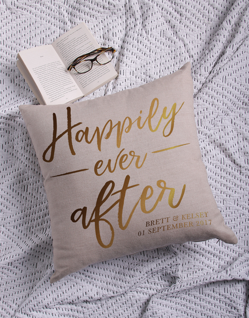 christmas: Personalised Gold Foil Ever After Scatter Cushion!