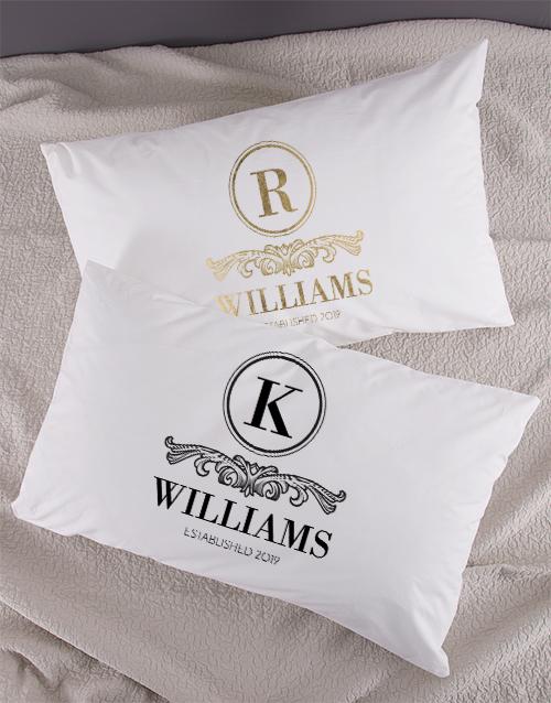 christmas: Personalised Family Crest Pillowcase Set!