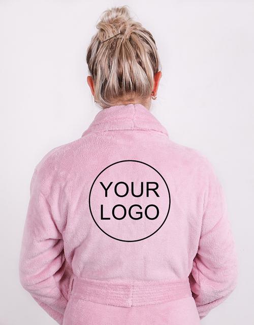 christmas: Personalised Own Logo Vintage Pink Fleece Gown!