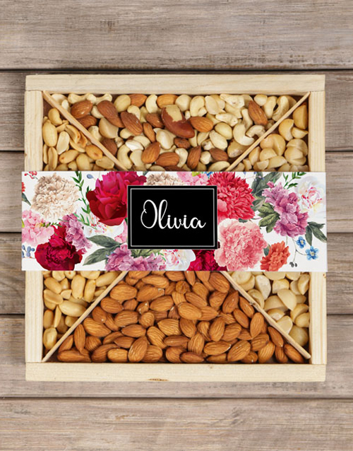 diwali: Personalised Nut Crate In Bloom!