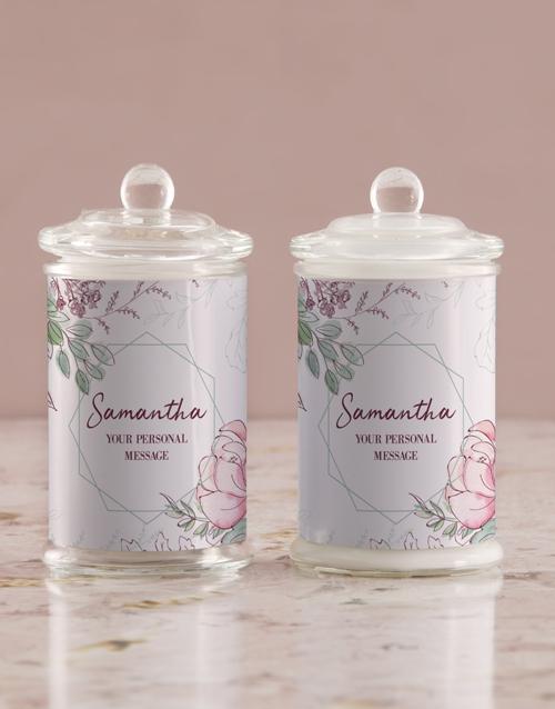 personalised: Personalised Floral Candle Jar!
