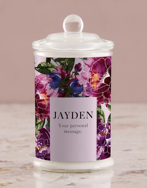 personalised: Personalised Purple Peony Candle Jar!