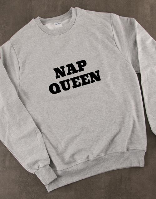 clothing: Personalised Type of Queen Ladies Sweatshirt!