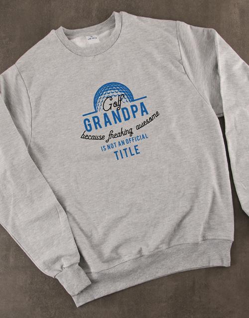 clothing: Personalised Golf Title Sweatshirt!