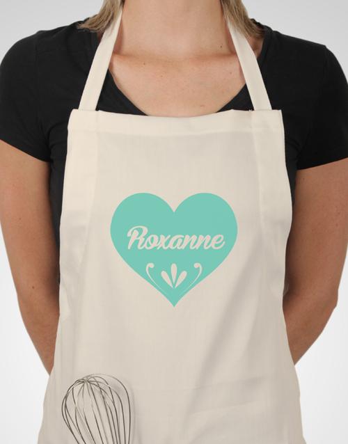 personalised: Personalised Heart Apron!
