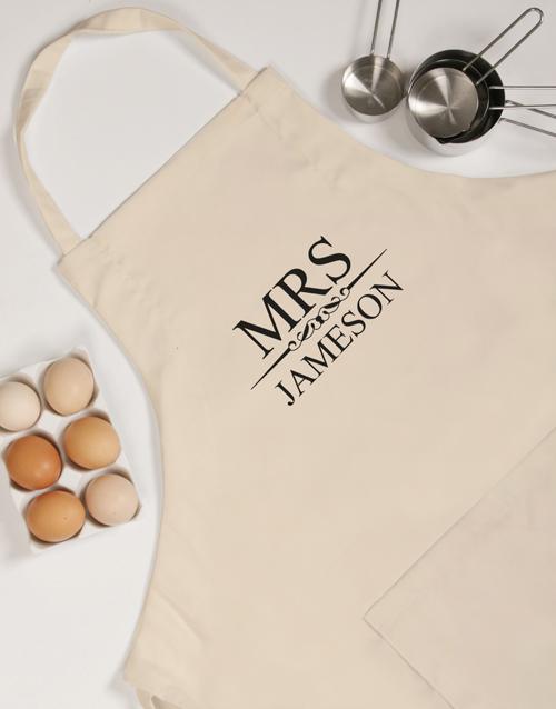 personalised: Personalised Mrs Apron!