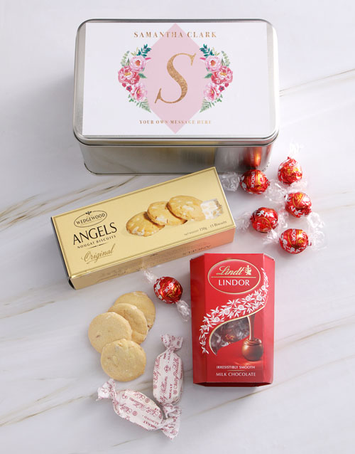 mothers-day: Personalised Floral Flair Snack Tin!