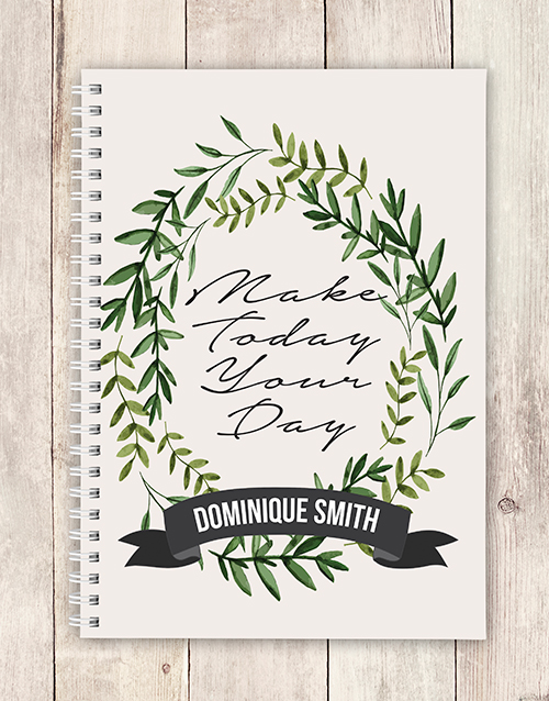 notebooks: Personalised Make Today Notebook!