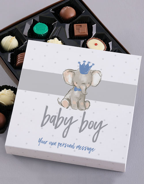 personalised: Personalised Baby Boy Chocolate Tray!