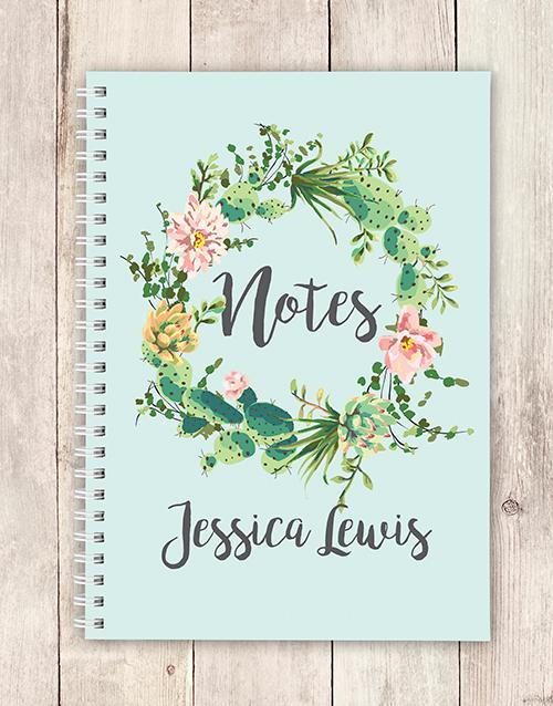 corporate: Personalised Festive Wreath Notebook!