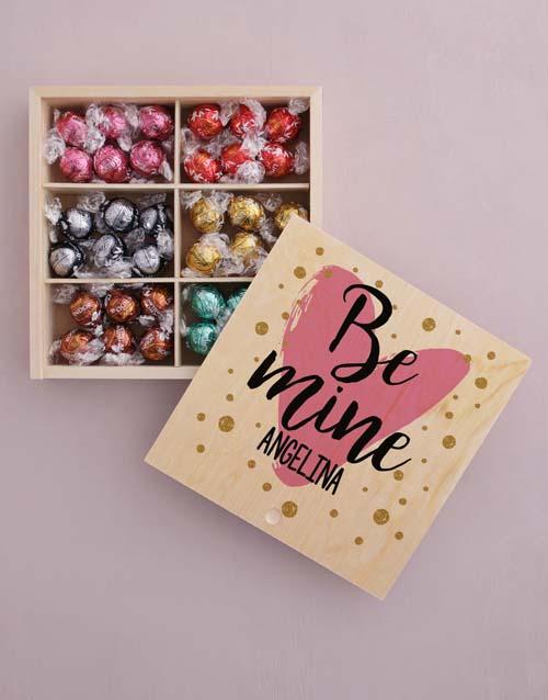 personalised: Personalised Be Mine Box Of Chocs!