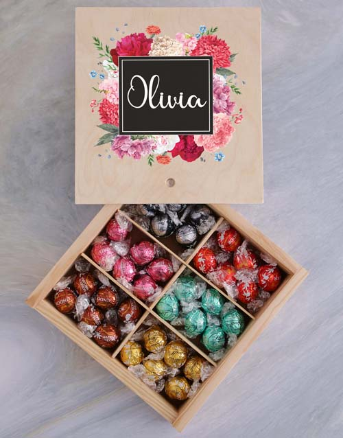 personalised: Personalised Floral Box Of Chocs!